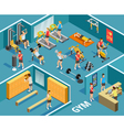 Gym Isometric Template vector image vector image