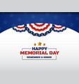 happy memorial day background design with usa vector image vector image