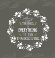 Happy thanksgiving floral wreaths vector image vector image