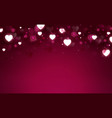 hearts shape and bokeh background vector image