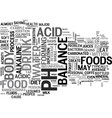 is there a universal diet for proper body balance vector image vector image