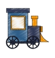 Isolated train toy design vector image vector image