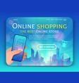 landing page template of online shopping vector image vector image