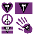 Lesbian pride design elements vector image vector image