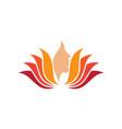 lotus flower beauty logo salon hair treatment vector image vector image