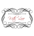 Love header vector image vector image