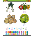 mathematical task cartoon vector image vector image