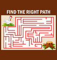 maze game finds the hen walk away to eggs vector image