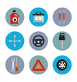 mechanic service set icons vector image