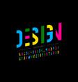 modern vibrant font design vector image vector image
