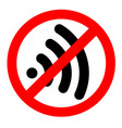 no wifi sign symbol on white background vector image vector image