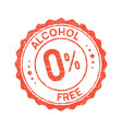 non alcoholic round vintage icon stamp zero vector image vector image