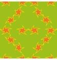 Orange stars seamless pattern vector image