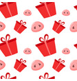pig is a symbol 2019 new year seamless pattern vector image vector image