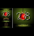 restaurant menu template for 2018 new year vector image vector image