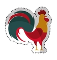 rooster year isolated icon vector image