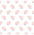 seamless pattern piggy art background design for vector image vector image