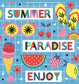 seamless pattern with summer paradise vector image vector image