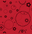 seamless red pattern with doodles vector image