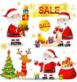 set christmas sale vector image vector image