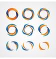 set circular creative logos vector image