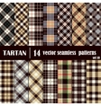 Set Tartan Seamless Pattern in gray and yellow vector image vector image