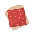 silhouette color bread with ham vector image vector image