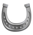 silver horseshoe icon cartoon style vector image