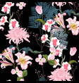 spring blossom floral seamless pattern vector image