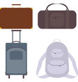 suitcase bag backpack vector image vector image