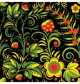 The traditional Russian floral seamless background vector image