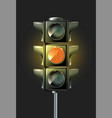 traffic lamp design vector image