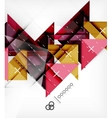 Triangles Template For Brochure Booklet vector image vector image