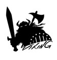 viking with sword and shield vector image