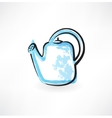 watering can grunge icon vector image vector image