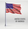 waving flag on flagpole vector image