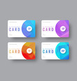 white gift card template with round and vector image vector image