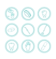 Hand drawn medical icons vector image