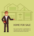 realtor with placard vector image