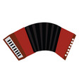 a squeezebox musical instrument called accordion vector image