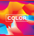 abstract colorful wave shapes background vector image