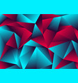 abstract low polygon red blue gradient color neon vector image vector image