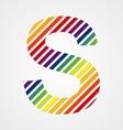 Alphabet Letter S vector image