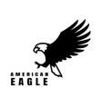 american eagle flying bird logo symbol vector image vector image