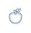 apple line icon concept apple flat symbol vector image vector image