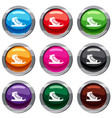 athletic shoe set 9 collection vector image vector image