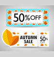 autumn sale banner background vector image vector image