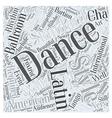 Ballroom Dancing is Making Waves Word Cloud vector image vector image
