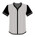 baseball shirt icon vector image vector image