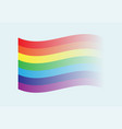 beautiful multicolored rainbow flag eps10 vector image vector image